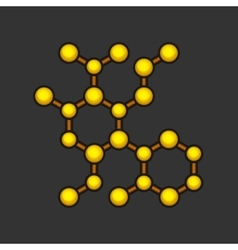 Abstract Molecule Icon on Dark Background vector
