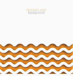 abstract orange waves pattern background design vector image
