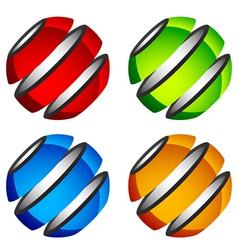 abstract shiny colored globes vector image
