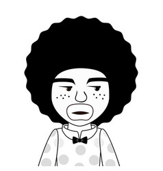 afro style person character vector image