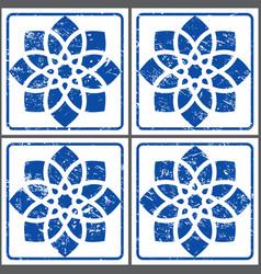Azulejos retro tiles pattern portuguese se vector
