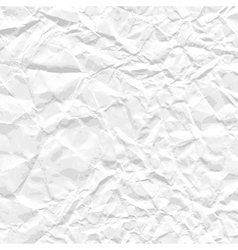 Background white crumpled paper vector