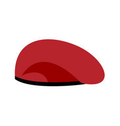 beret military red soldiers cap army hat war vector image