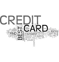 best credit card offer is still possible text vector image