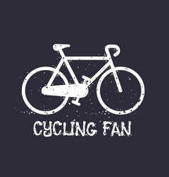 bicycle cycling t-shirt print vector image