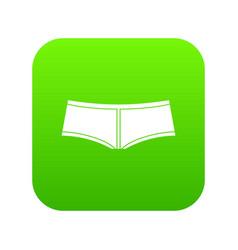 boyshorts icon digital green vector image