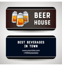 Business Card For Beer House vector