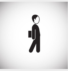 businessman going to office on white background vector image