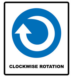 clockwise rotation arrow icon blue mandatory vector image