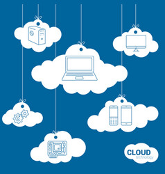 cloud network technology concept vector image