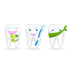 Collection Of Teeth vector