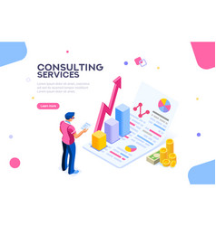 Consult concept isometric vector