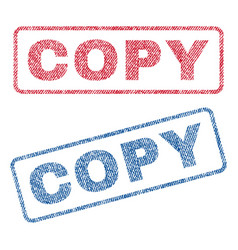 Copy textile stamps vector