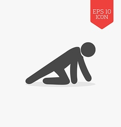Crawling man icon flat design gray color symbol vector