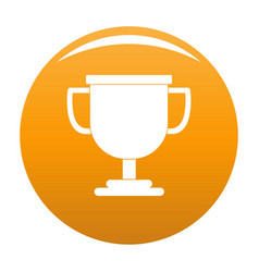 Cup award icon orange vector