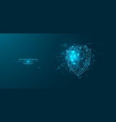 cyber security shield vector image