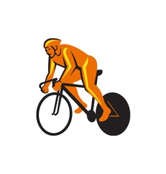 Cyclist Riding Cycling Racing Retro vector image
