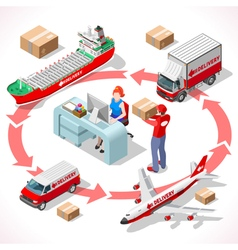 Delivery 02 Infographic Isometric vector image