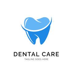 Dental logo concept creative minimal design vector