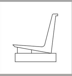 Design sketch of a garden chair vector
