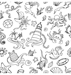 Doodle pattern sea vector