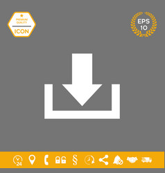 download from cloud icon graphic elements for vector image