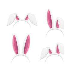 easter bunny or rabbit ear headbands vector image
