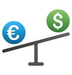 Euro Dollar Market Swing Gradient Icon vector image