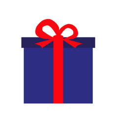festive gift in a blue box vector image