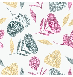 Flower line art background vector