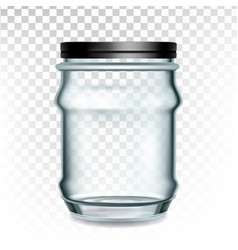 glass container storage for sewing supplies vector image
