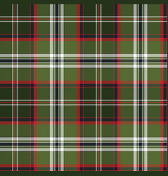 green check plaid pixel seamless fabric texture vector image