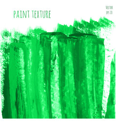 green hand paint watercolor texture vector image