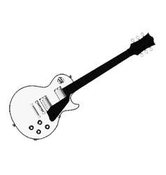 Halftone electric guitar vector