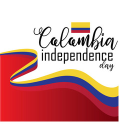 happy colombia independence day vector image