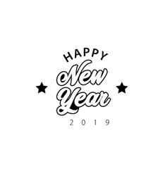 happy new year 2019 lettering vector image
