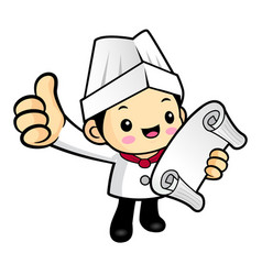 head chef character is watching the order vector image