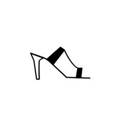 heeled mules sandals icon vector image