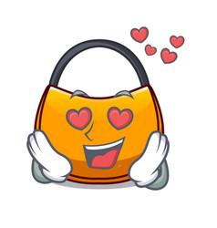 In love hobo bag outline on image cartoon vector