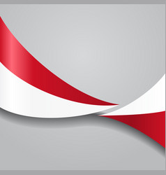 indonesian wavy flag vector image