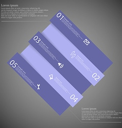 Infographic template with purple rhombus askew vector