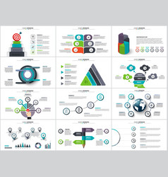 infographics diagram chart and graph vector image