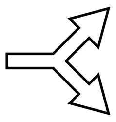 Junction Arrow Right Outline Icon vector image