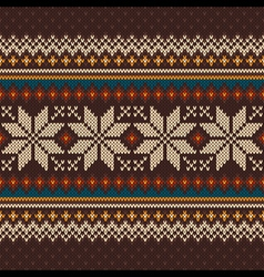 KNIT Fairisle 36 vector
