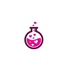Love science lab logo icon design vector