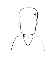 man avatar portrait icon image vector image