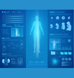 medical hud interface vector image