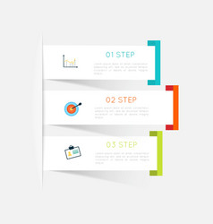 Minimal infographics design vector image