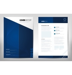Modern Cover Annual Report Brochure - business vector