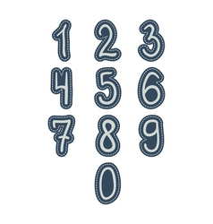 Numbers stickers hand drawing style kids isolated vector